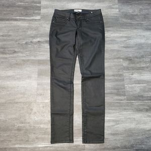 Black Matte Garage Skinny Denim Pant